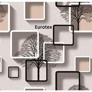 Eurotex 57 sqft Textured Vinyl PVC Coated 3D Design Wallpaper Rolls for Wall/Home decoration-L8132