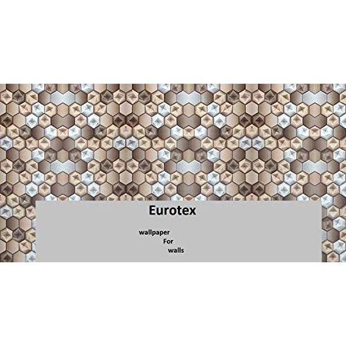 Eurotex Textured Vinyl PVC Coated Multicolour 3D Design 57sqft Wallpaper roll for Walls/Home decoration-L3044