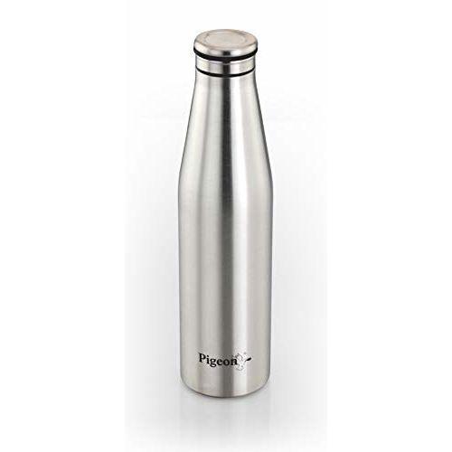 Pigeon Smiley Stainless Steel Fridge Bottle, 750ml, Silver