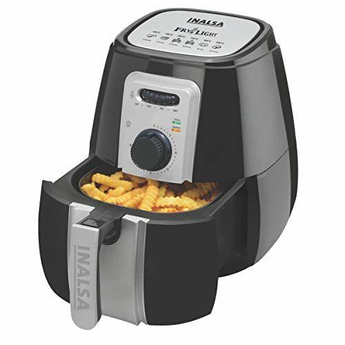 Inalsa Air Fryer 2.9L Fry Light with 1400-Watt and Smart Rapid Air Technology (Black/Grey)