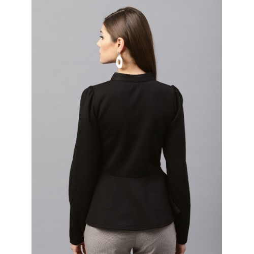 SASSAFRAS Black Solid Tailored Jacket
