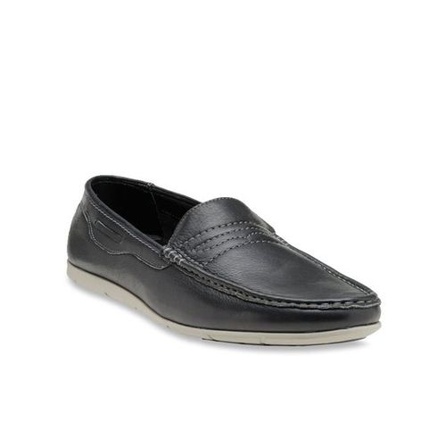 Buy Franco Leone Black Casual Loafers