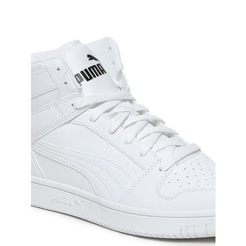 61356a4061 Buy Puma Men White Rebound LayUp SL Leather Mid-Top Sneakers online ...