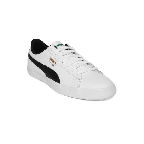 low priced c46d2 a4586 Buy Puma Unisex White & Black Court Star Vulc FS Leather ...