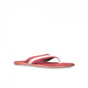 Footin by Bata Red & White Flip Flops