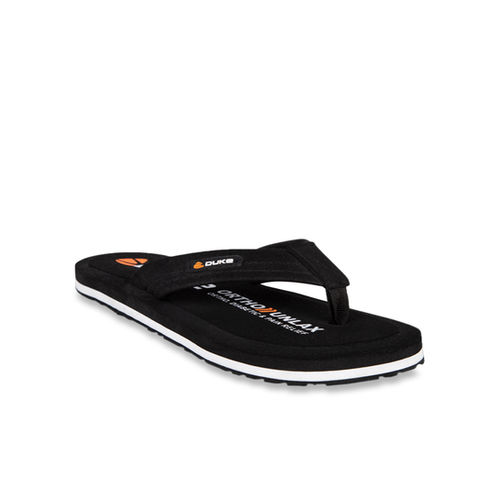 Duke Black & White Flip Flops