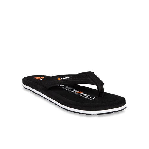 Duke Black & White Flip Flops