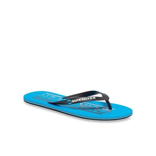 Quiksilver Molokai Wordmar Black & Blue Flip Flops