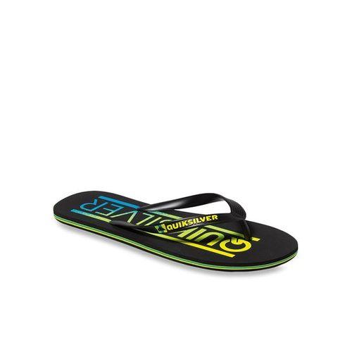 Quiksilver Molokai Wordmar Black & Yellow Flip Flops