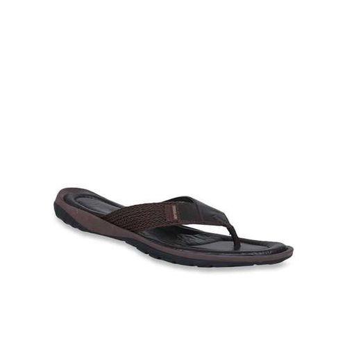 Woodland Dark Brown & Rust Flip Flops