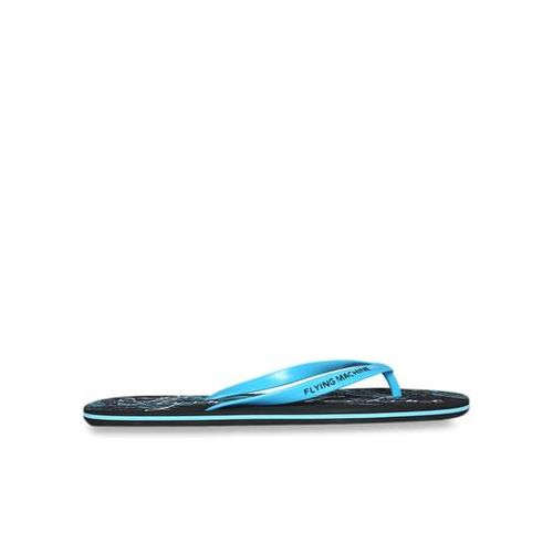 Flying Machine Ishii Sky Blue & Black Flip Flops