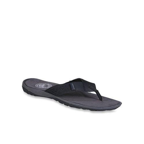Woodland Black & Grey Flip Flops