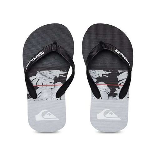 Quiksilver Molokaicarrillo Black & Grey Flip Flops