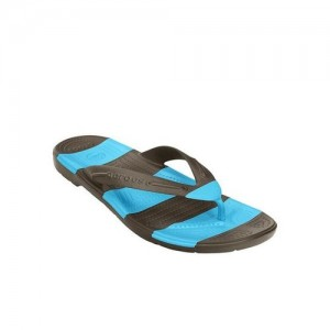 455ae5d8b Crocs Beach Line Espresso   Electric Blue Flip Flops
