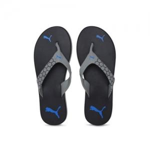 7b3a0b527b56 ₹1699 Tatacliq. Puma Men Black   Grey Breeze Printed Thong Flip-Flops