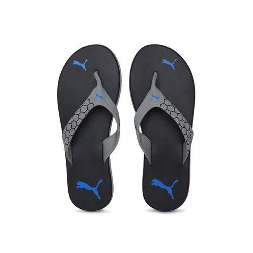 Puma Men Black & Grey Breeze Printed Thong Flip-Flops