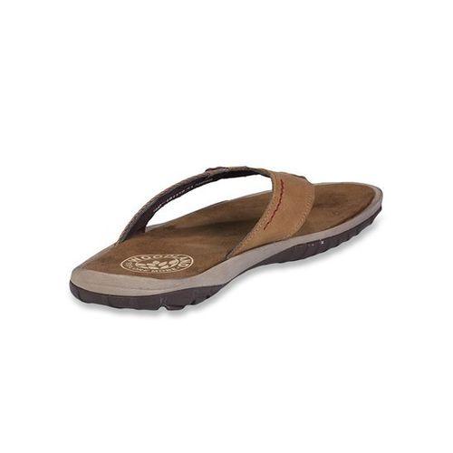 Woodland Camel & Beige Flip Flops