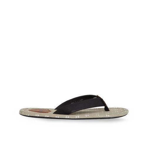 Duke Light Grey & Black Flip Flops
