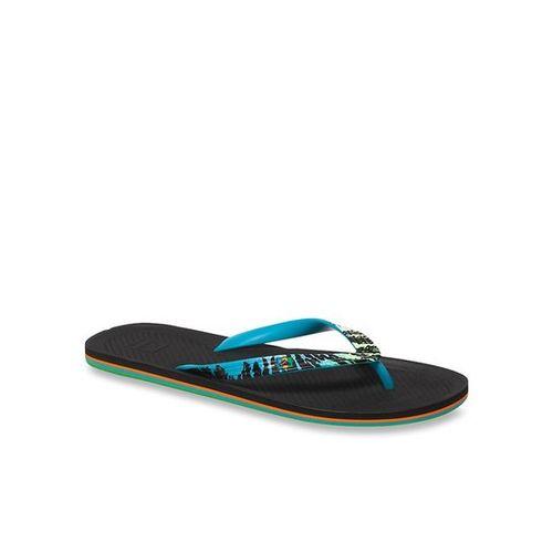 Quiksilver Haleiwa Sky Blue & Black Flip Flops
