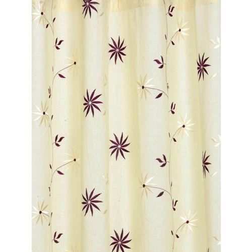Cortina Beige Sheer Long Door Curtains