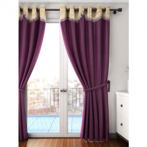 Cortina Purple Single Long Door Curtain
