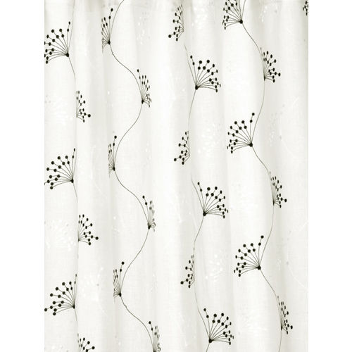 Cortina White & Black Set of 2 Long Door Curtains