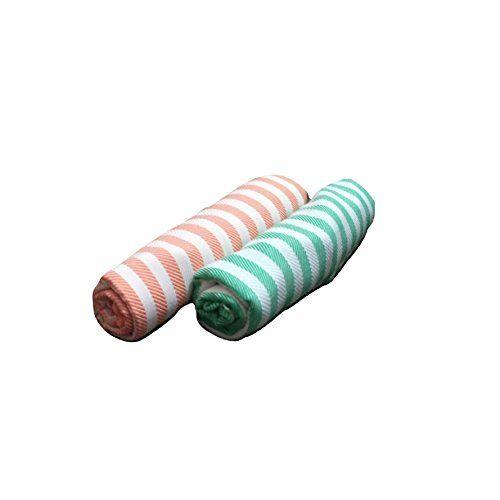 Cotton Colors - 2 Striped Bath Towels - Standard Towel (60
