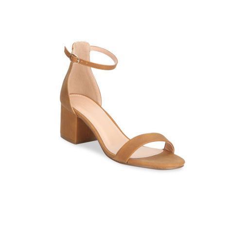 Truffle Collection Women Brown Solid Heels