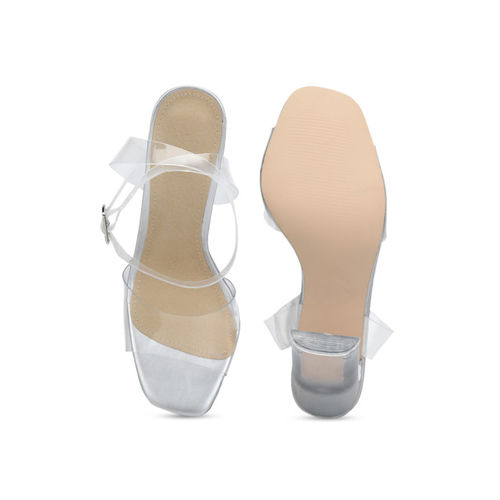 Truffle Collection Women Transparent Solid Heels