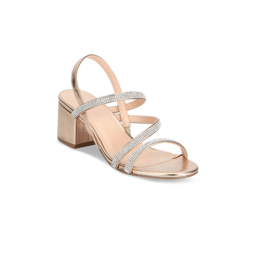 Truffle Collection Women Rose Gold Embellished Heels