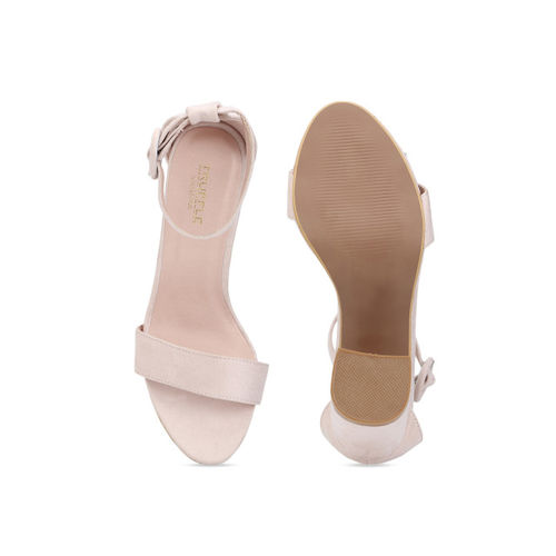 Truffle Collection Women Pink Solid Heels