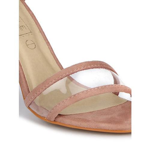 Truffle Collection Women Skin Color-Coloured Solid Sandals