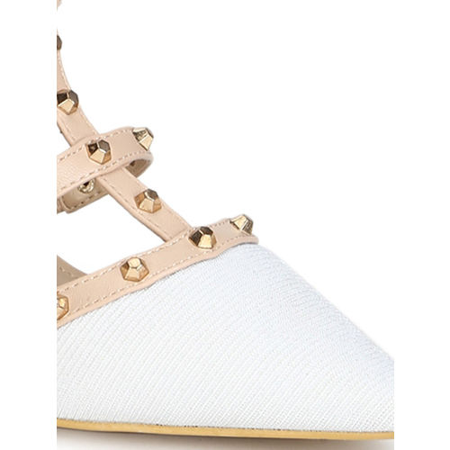 Truffle Collection Women White Solid Sandals