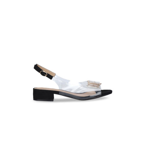 Truffle Collection Women Black Solid Peep Toes