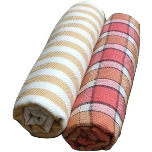 Cotton Colors Cotton 300 GSM Bath Towel Set(Pack of 2, Multicolor)