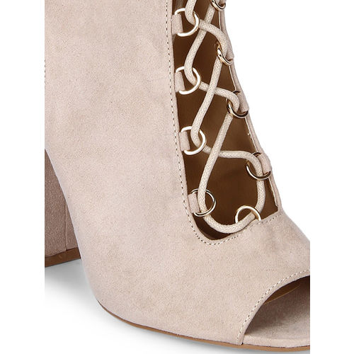 Truffle Collection Women Skin-Coloured Solid Sandals