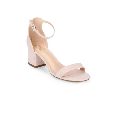 Truffle Collection Women Pink Solid Sandals