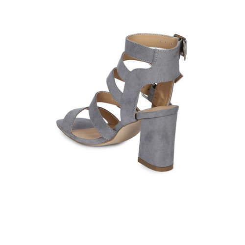 Truffle Collection Women Grey Solid Sandals