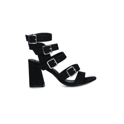 Truffle Collection Women Black Solid Gladiators