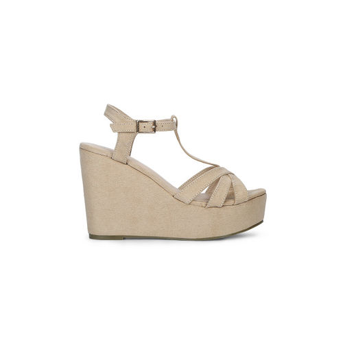Truffle Collection Women Skin-Coloured Coloured Solid Sandals