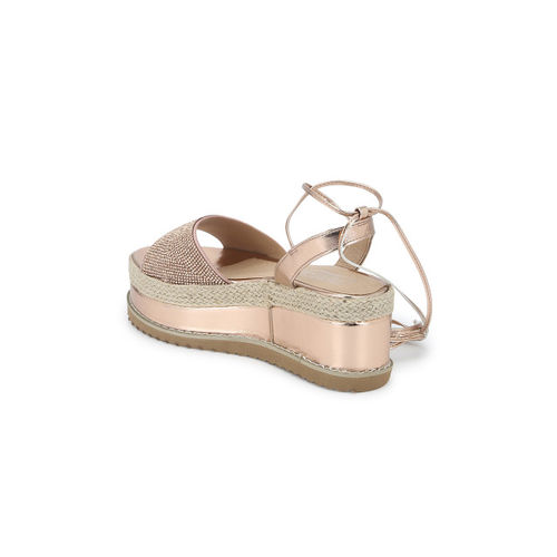 Truffle Collection Women Copper-Toned Solid Heels