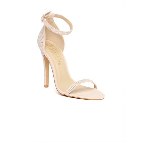 Truffle Collection Women Peach-Coloured Embellished Stilettos