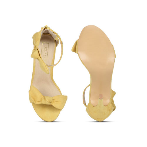 Truffle Collection Women Yellow Solid Sandals
