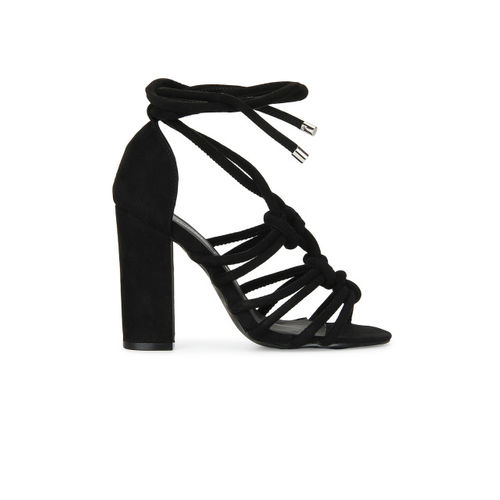 Truffle Collection Women Black Solid Heels