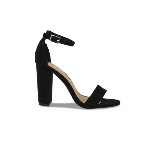 Truffle Collection Women Black Solid Sandals
