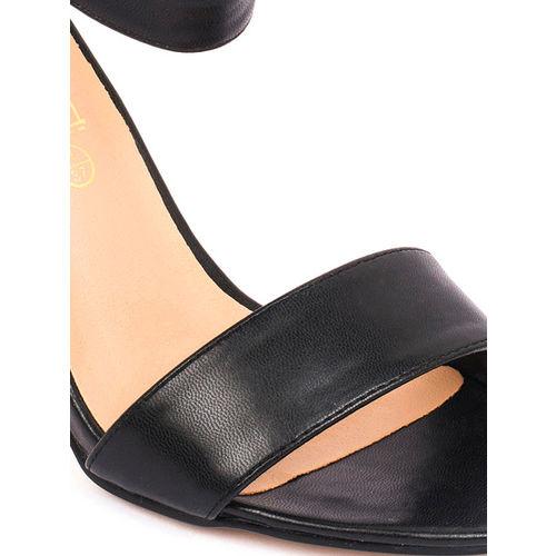 Truffle Collection Women Black Solid Heels
