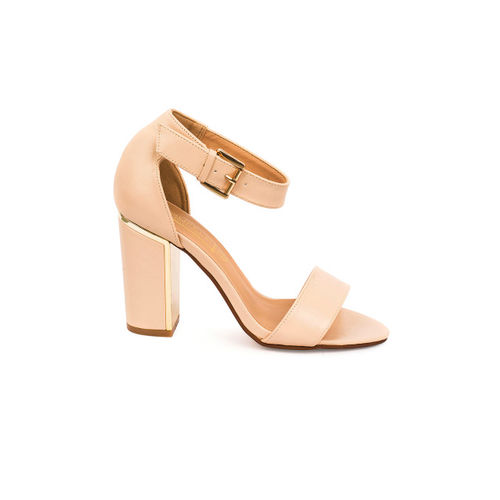Truffle Collection Women Skin Color-Coloured Solid Heels