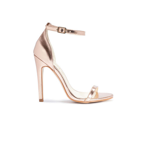 Truffle Collection Women Gold-Toned Solid Heels