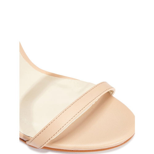 Truffle Collection Beige Synthetic Solid Heels