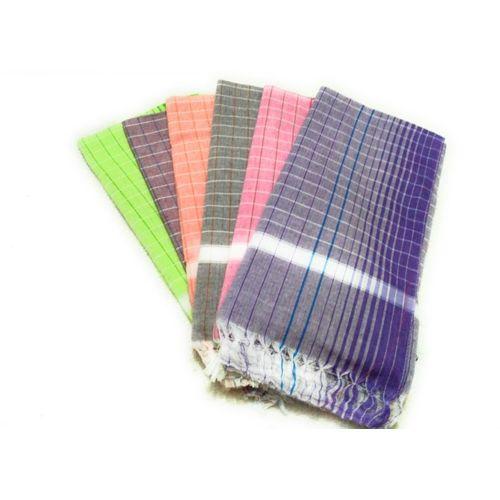 Cotton Colors Cotton 200 GSM Bath Towel Set(Pack of 6, Multicolor)